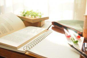 英語のテキストとノート